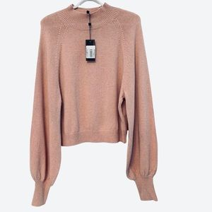 BXBGMaxAria Rose Pink Mockneck Sweater Size XL NWT